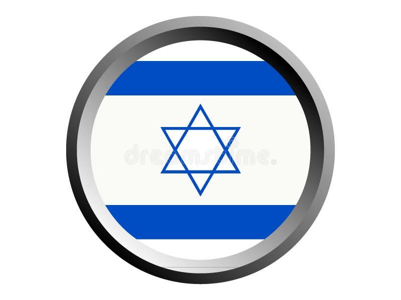 Flagge der Runden-3D von Israel lizenzfreie abbildung