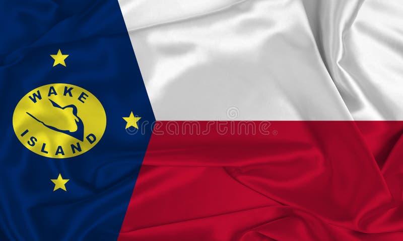 Flagge der Seidenweininsel stockfoto