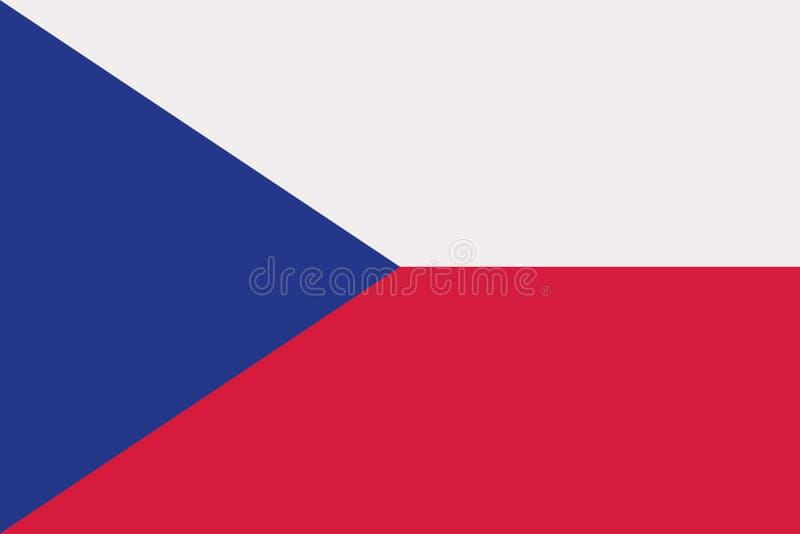 Flagge der Tschechischen Republik lizenzfreie abbildung