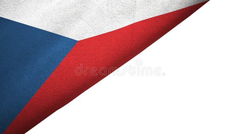 Flagge der Tschechischen Republik ließ Seite mit leerem Kopienraum stock abbildung
