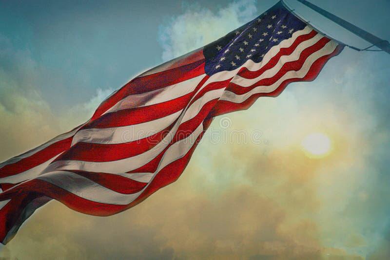 Flagge der Vereinigten Staaten lizenzfreie stockbilder