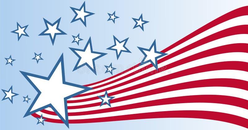 Flagge der Vereinigten Staaten - Vektor  stock abbildung