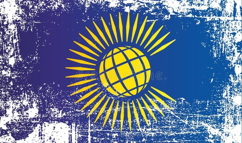 Flagge des Commonwealth von Nationen Geknitterte schmutzige Stellen lizenzfreie abbildung