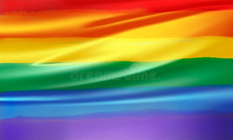 Flagge des homosexuellen Stolzes des Regenbogen-Flaggeregenbogens stockfotografie