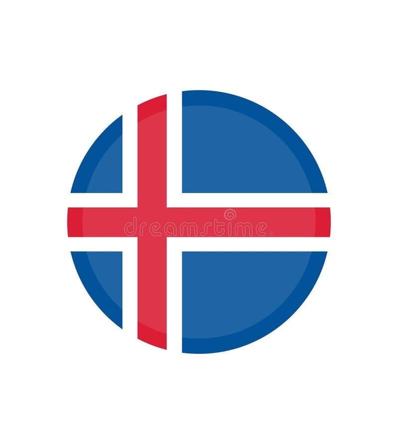 Flagge des Islands Seitensymbol für Ihr Websiteentwurf Island-Flaggenlogo, App vektor abbildung