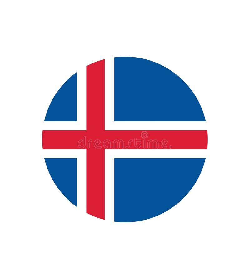 Flagge des Islands Seitensymbol für Ihr Websiteentwurf Island-Flaggenlogo, App, UI Die Staatsflagge von Island stock abbildung