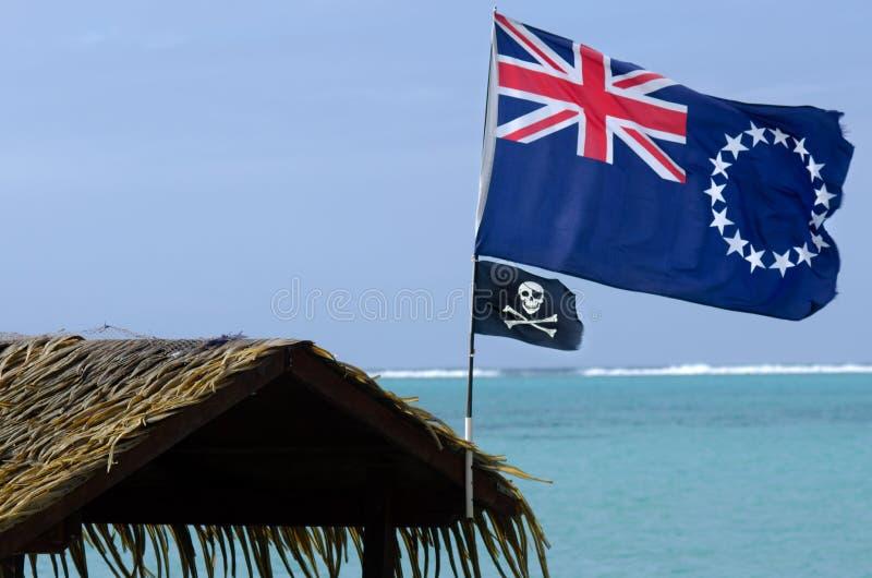 Flagge des Kochs Islands lizenzfreies stockfoto