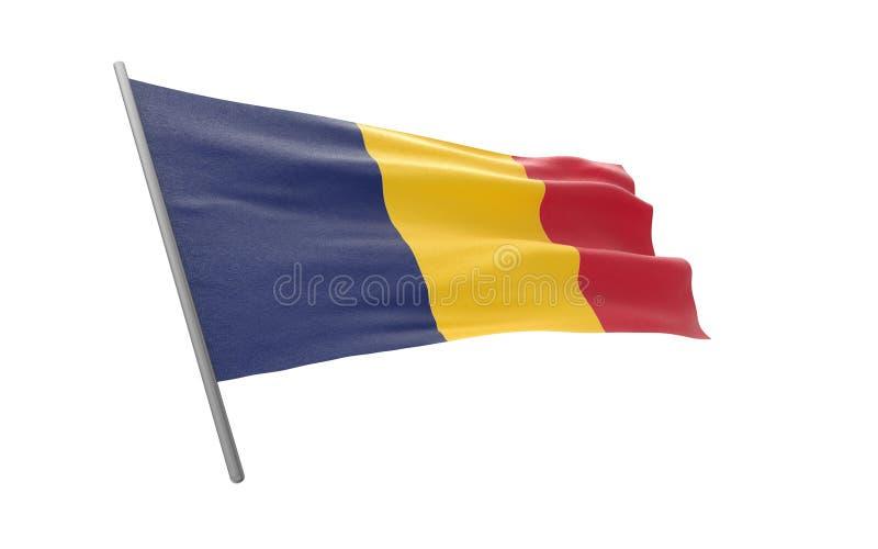 Flagge des Konfettis stock abbildung