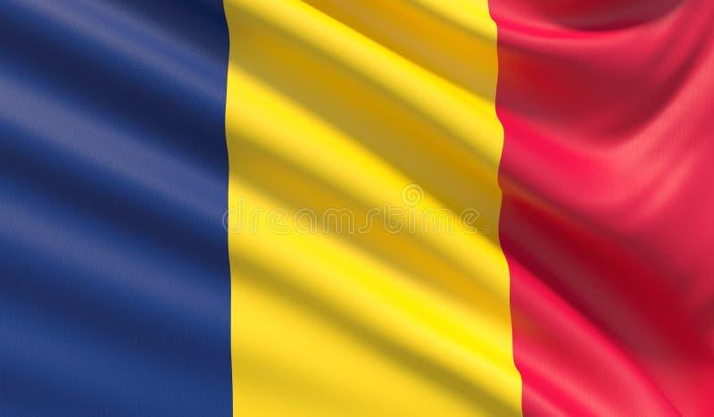 Flagge des Konfettis Wellenartig bewegte in hohem Grade ausführliche Gewebebeschaffenheit stockbild