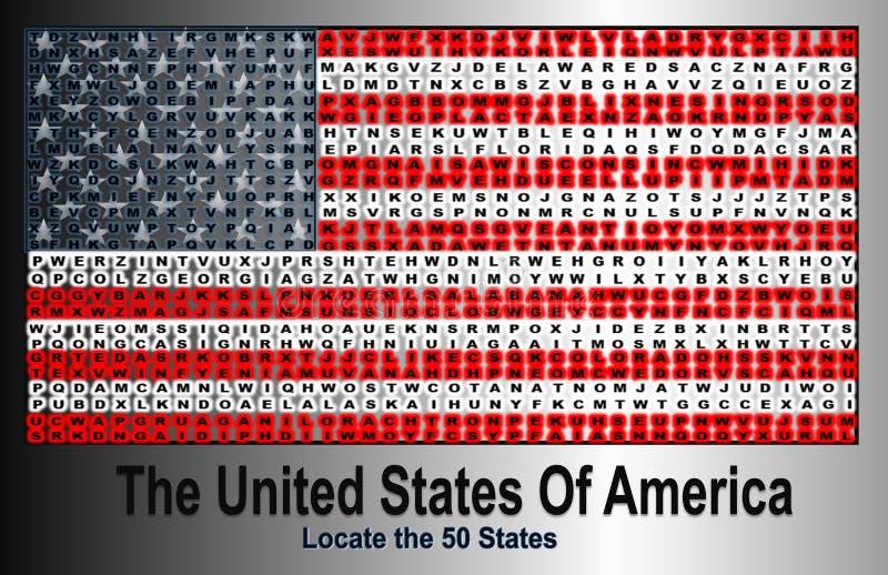 Flagge des vereinigten Staates von Amerika lizenzfreie abbildung