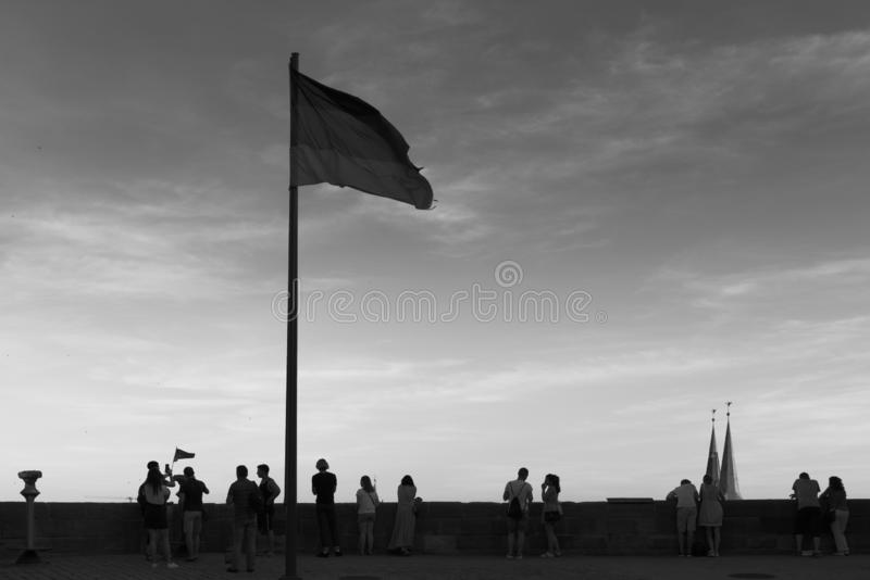 Flagge für Leute lizenzfreies stockfoto