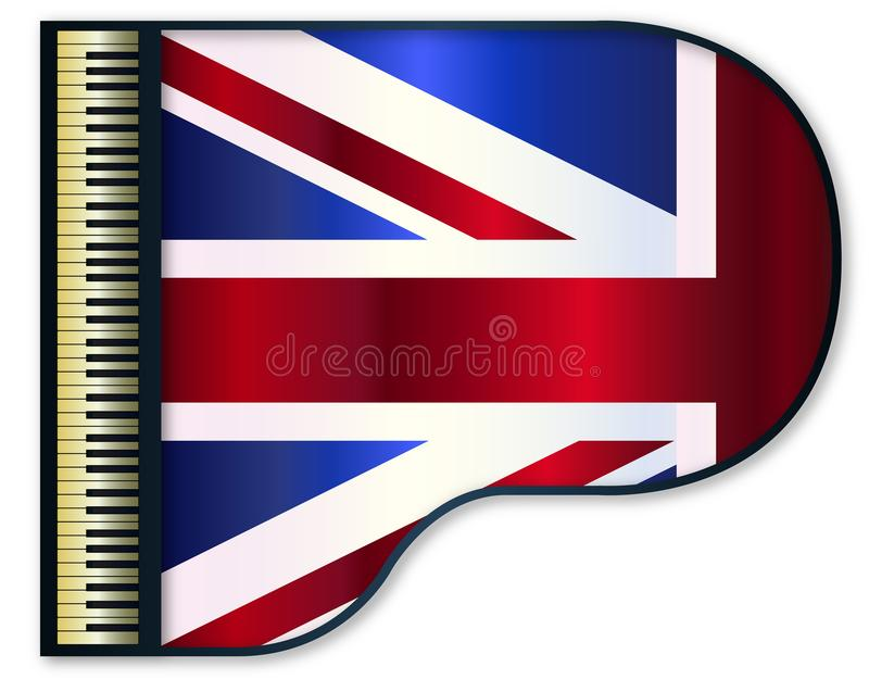 Flagge Flügels-Vereinigten Königreichs vektor abbildung
