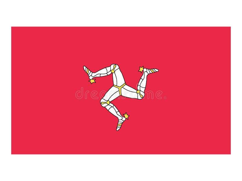 Flagge Isle of Mans stock abbildung