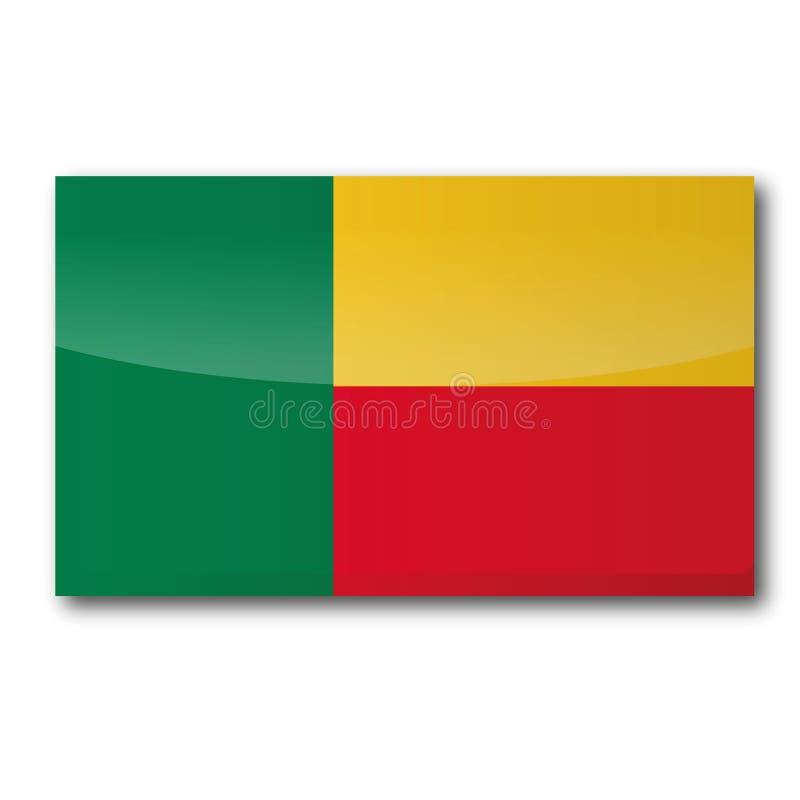 Flag of Benin stock illustration