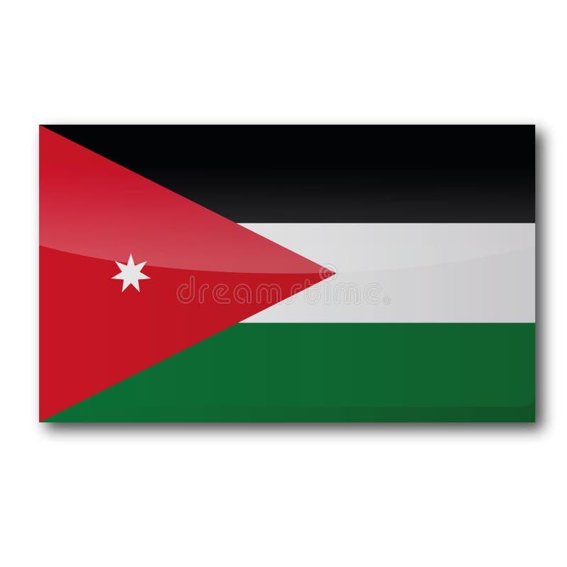 Flag of Jordan. Flag of  Jordan in Asia vector illustration