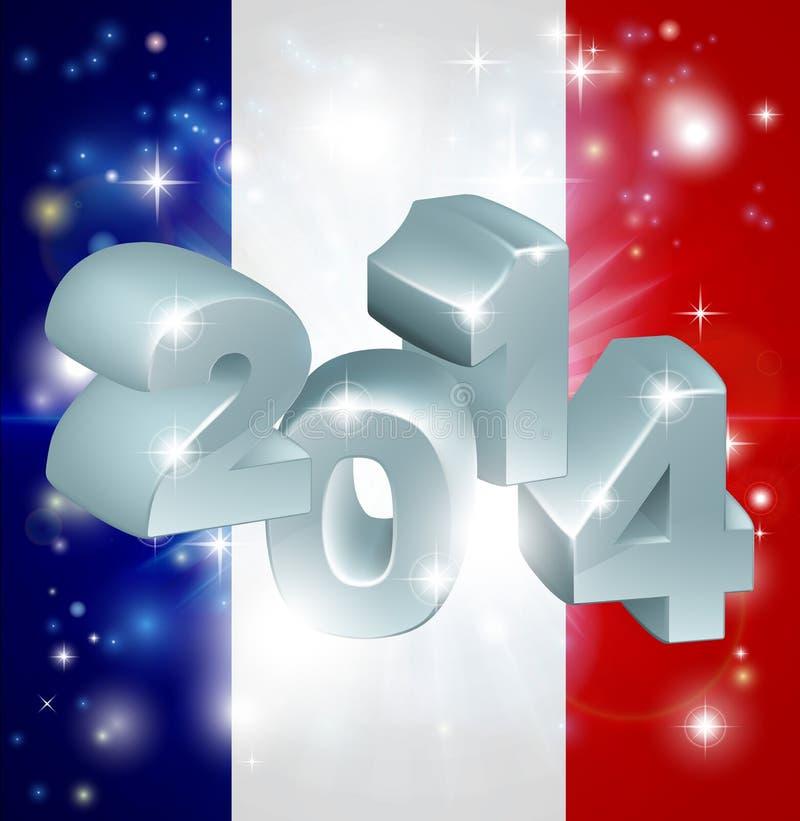 Flagge mit 2014 Franzosen vektor abbildung