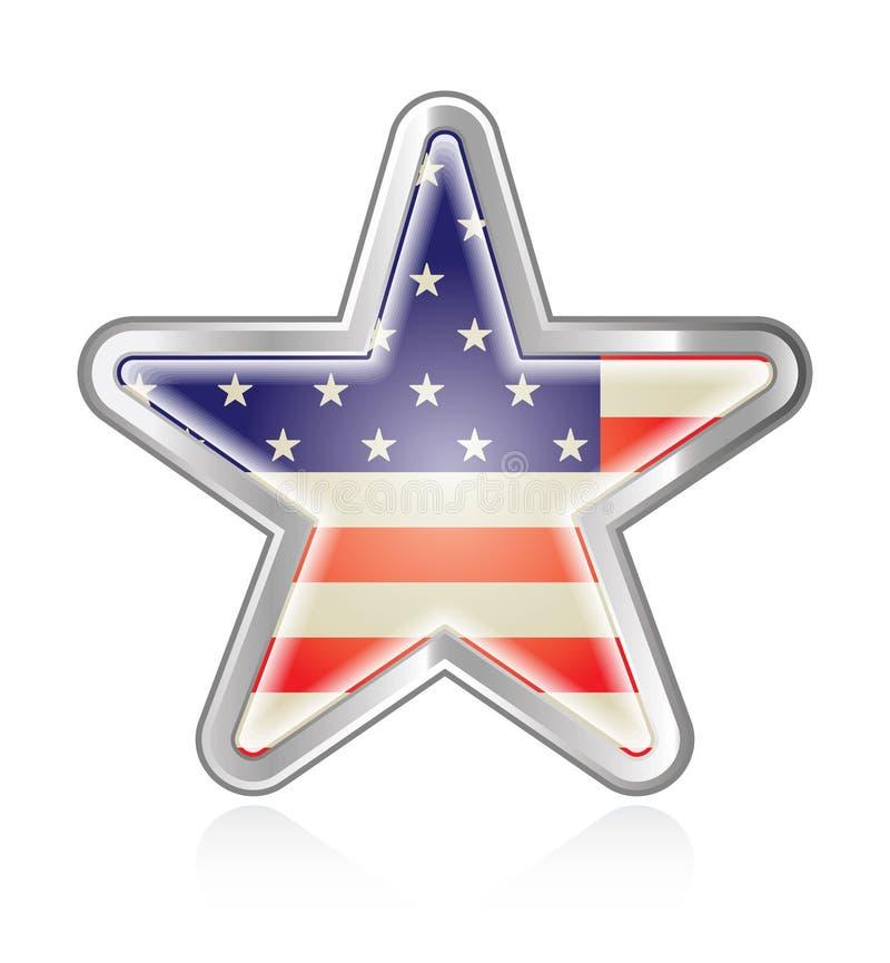 Flagge-Stern lizenzfreie abbildung
