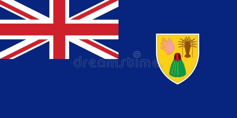 Flagge Türken und Caicos im Beamten, Vektor lizenzfreie abbildung