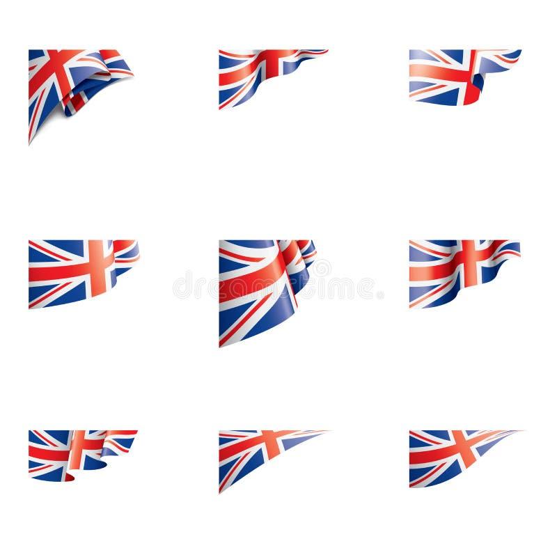 Flagge Vereinigten Königreichs, Vektorillustration auf einem weißen Hintergrund vektor abbildung