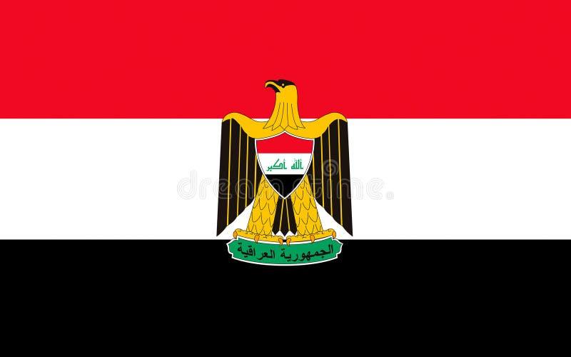 Flagge vom Irak stock abbildung