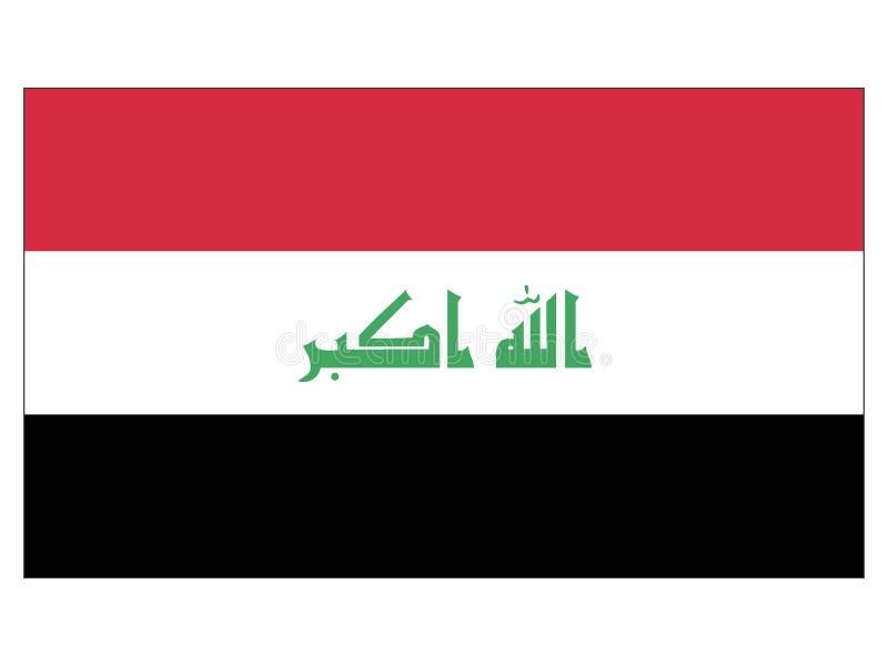Flagge vom Irak lizenzfreie abbildung