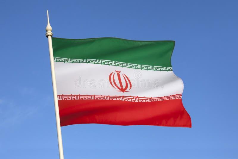 Flagge vom Iran lizenzfreie stockfotografie