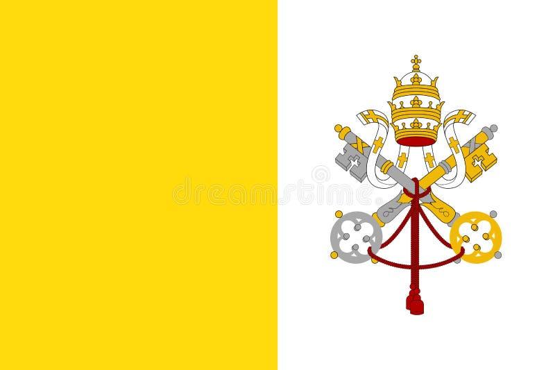 Flagge vom Stadtstaat Vatikan lizenzfreie abbildung