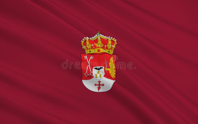 Flagge von Albacete ist eine Provinz von Mittel-Spanien lizenzfreie abbildung