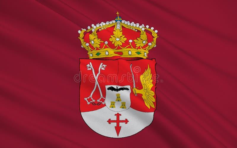 Flagge von Albacete ist eine Provinz von Mittel-Spanien stock abbildung