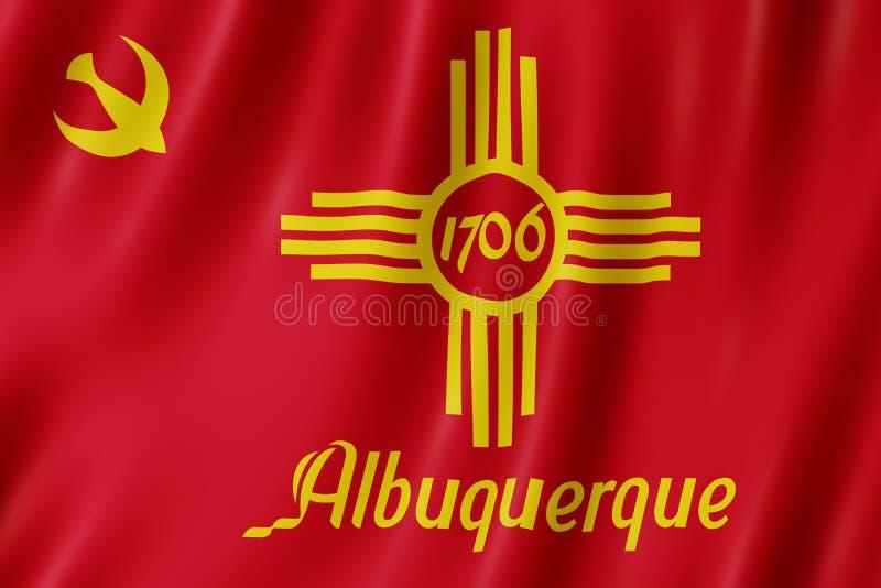 Flagge von Albuquerque-Stadt, New Mexiko US stock abbildung