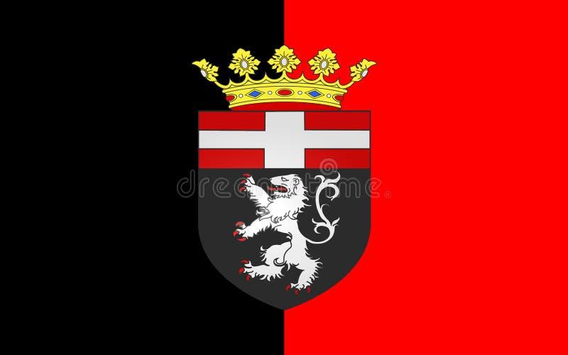 Flagge von Aosta vom Aostatal, Italien lizenzfreie abbildung