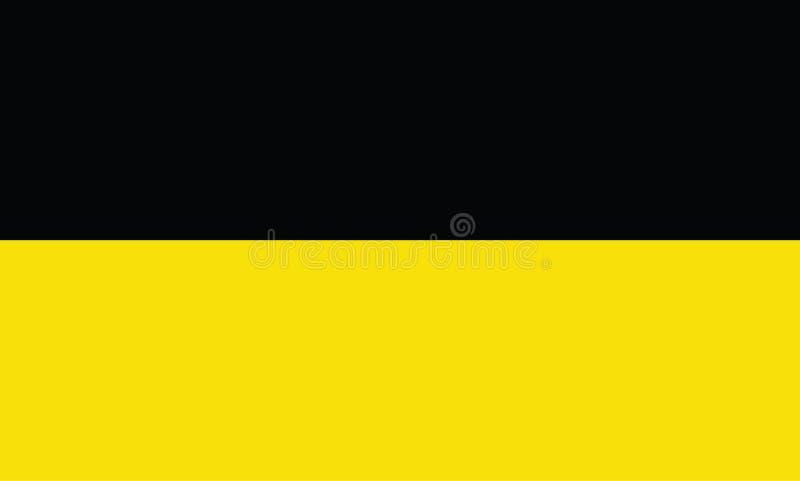 Flagge von Baden-Wurttemberg, Deutschland, lizenzfreie abbildung