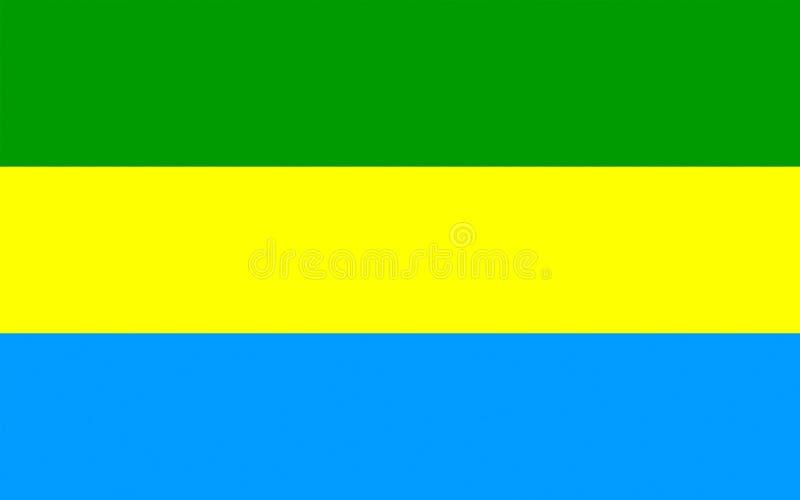 Flagge von Bandung, Indonesien stockbild