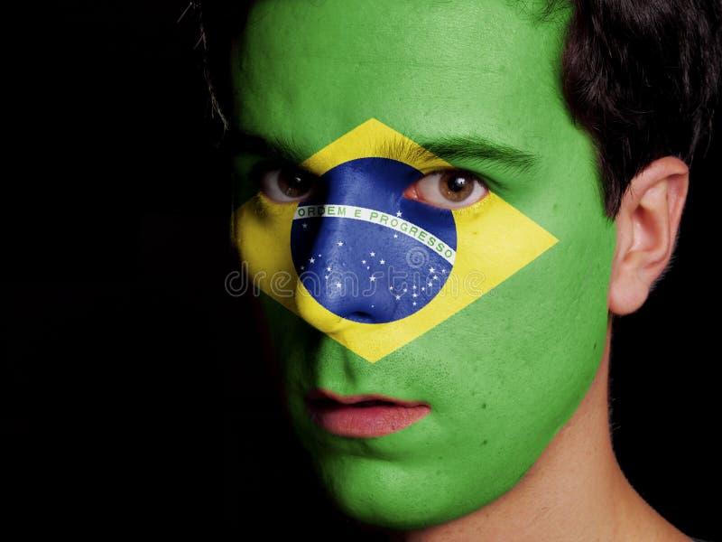 Flagge von Brasilien lizenzfreie stockfotos
