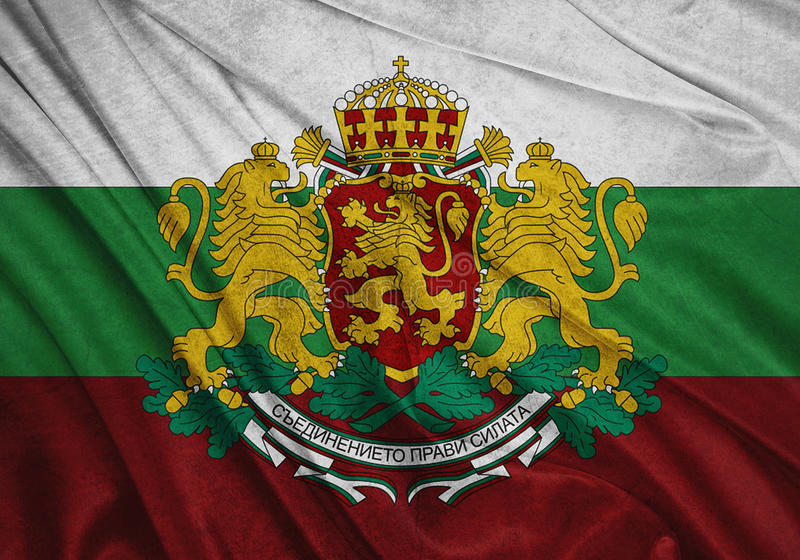 Flagge von Bulgarien stock abbildung