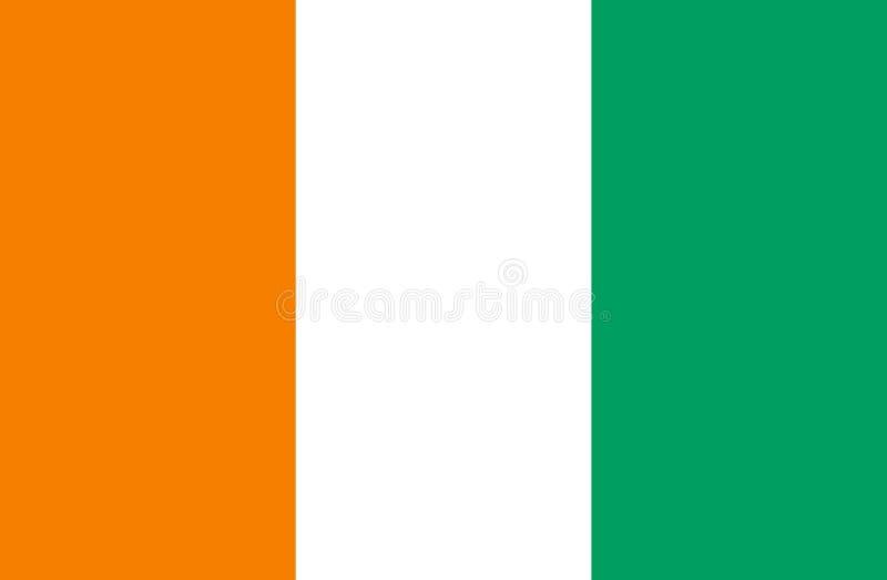 Flagge von CÃ'te d 'Ivoire stockfotos