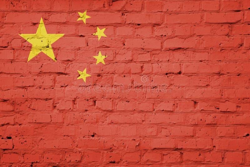Flagge von China stock abbildung
