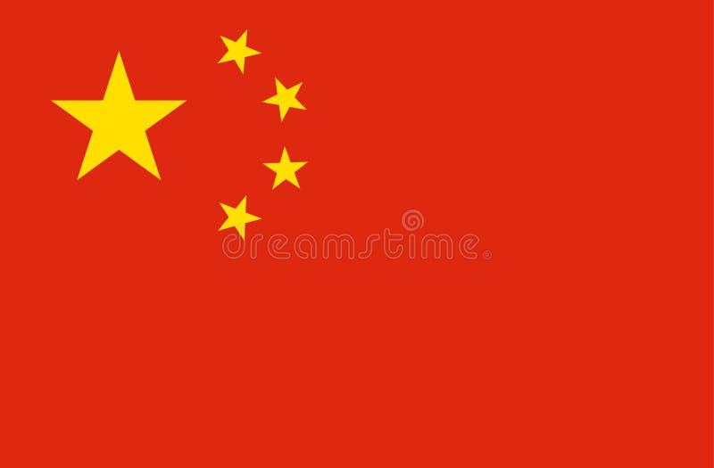 Flagge von China stockfotografie