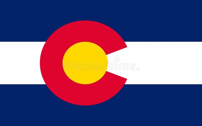 Flagge von Colorado, USA stockfoto