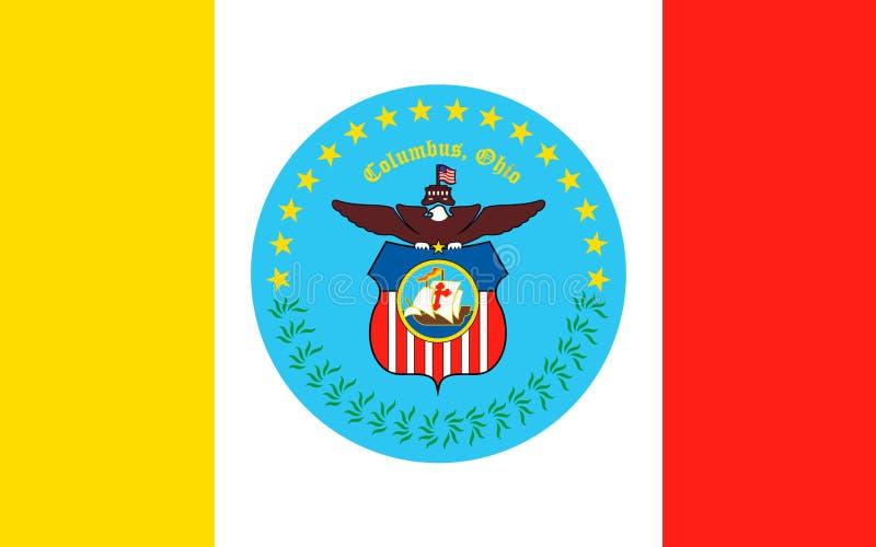 Flagge von Columbus, USA lizenzfreie stockfotos