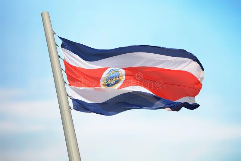 Flagge von Costa Rica lizenzfreie stockbilder