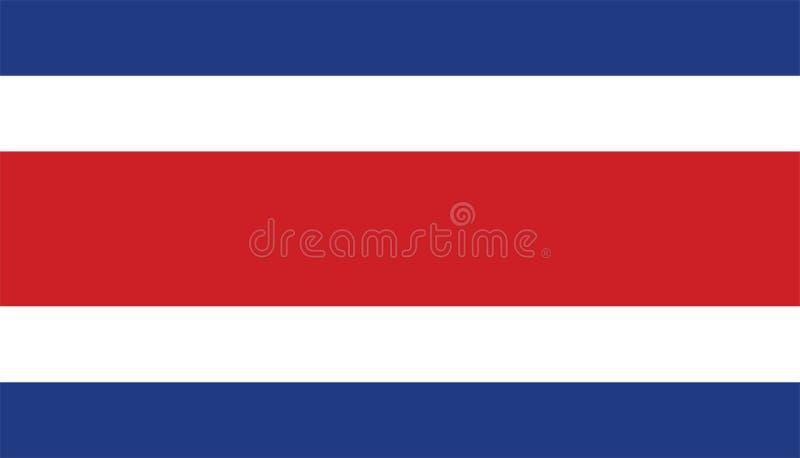 Flagge von Costa Rica lizenzfreie abbildung