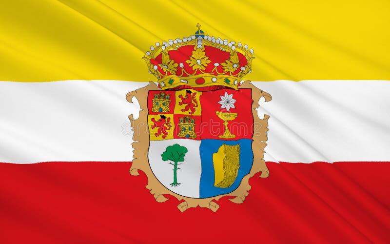 Flagge von Cuenca ist eine Provinz von Mittel-Spanien stock abbildung