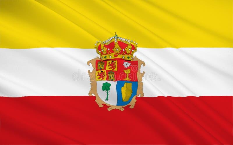 Flagge von Cuenca ist eine Provinz von Mittel-Spanien vektor abbildung