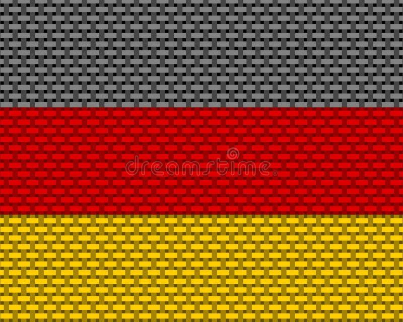 Flagge von Deutschland-grobem ineinandergegriffen lizenzfreie abbildung