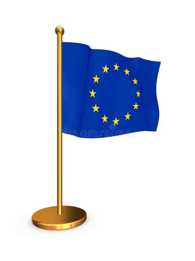 Flagge von EU. stock abbildung
