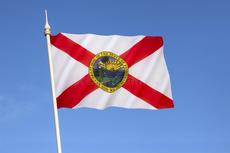 Flagge von Florida - die Vereinigten Staaten von Amerika stockbild