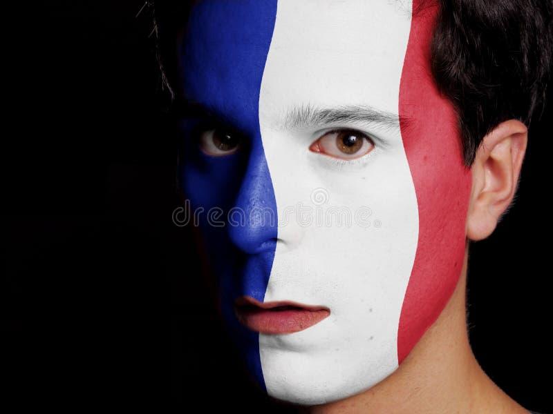 Flagge von Frankreich stockfotos
