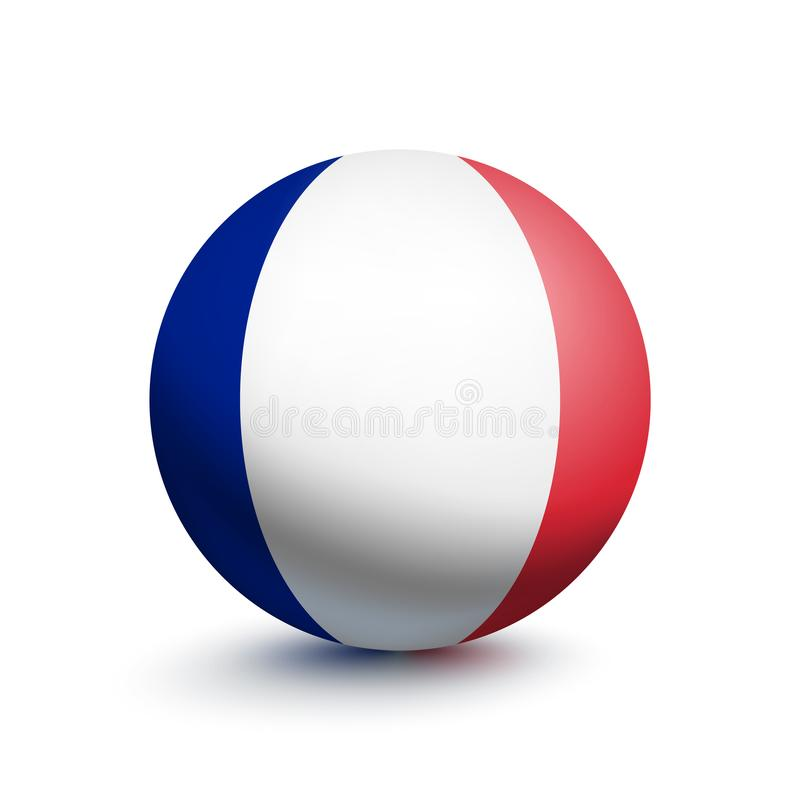 Flagge von Frankreich in Form eines Balls vektor abbildung