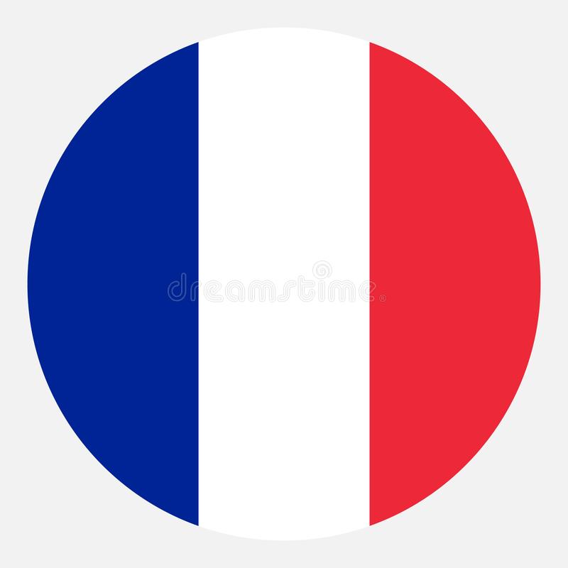 Flagge von Frankreich-Vektor stockfoto